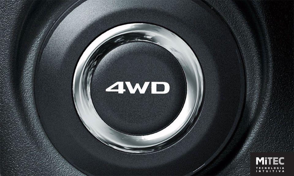 Tração 4x4 com sistema eletrônico de acionamento. Com o clique em um botão é possível escolher entre 3 modos de operação:<br />- 4WD Eco: modo econômico – tração dianteira em condições normais<br />- 4WD Auto: tração  4x4 com distribuição eletrônica automática conforme condições do terreno<br />- 4WD Lock: tração 4x4 em tempo integral.